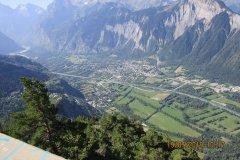 Vue superbe sur Bourg d'Oisans et la vallée de La Romanche