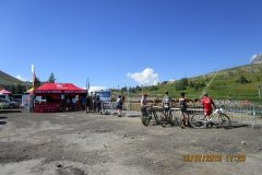 Le parcours se déroule sur les pistes de ski de l'Alpe en plein coeur de la station
