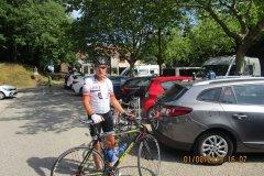 16h07 - Jean Claude Hu, a beaucoup souffert....mais il a fait les 115km et plus 1.750m avec tous les autres